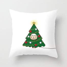because dressing up as a santa is too mainstream Throw Pillow