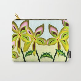 Pinwheel Flowers Carry-All Pouch