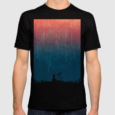 Meteor rain Mens Fitted Tee MEDIUM Black