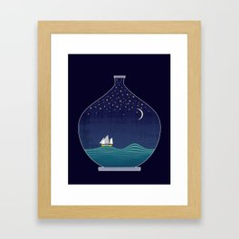 Ship In A Bottle Framed Art Print