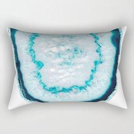 Aquamarine Agate #1 #gem #decor #art #society6 Rectangular Pillow