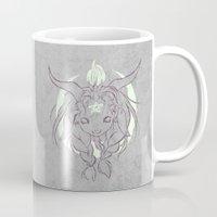 baphomet Mugs featuring Baphomet V3 by Savannah Horrocks