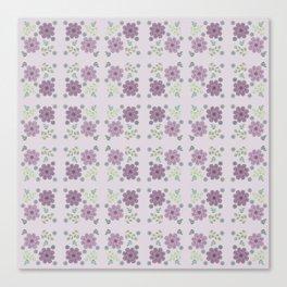 Wild Flowers in Lavender 2 Canvas Print