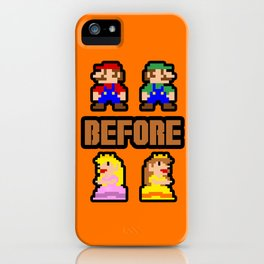 Super Mario Bros Before Hoes iPhone Case