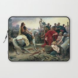 Vercingetorix Throws Down His Arms At The Feet Of Julius Caesar Laptop Sleeve