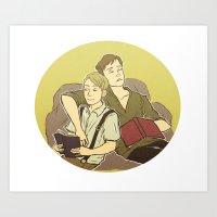 stucky Art Prints featuring stucky by maria euphemia