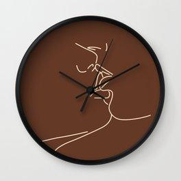 Couple Kiss Illustration No.3 Wall Clock