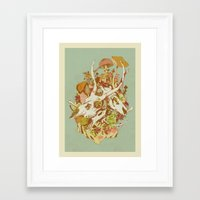 spring Framed Art Prints featuring skulls in spring by Teagan White