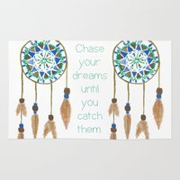 dream catcher Area & Throw Rugs featuring Dream Catcher by Kayla G