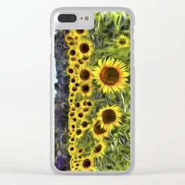 Sunflower Field Vincent Van Goth Clear iPhone Case