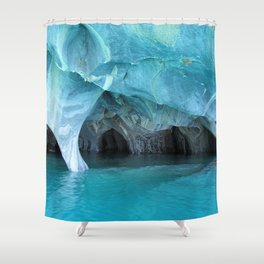 Marble blue 3 Shower Curtain