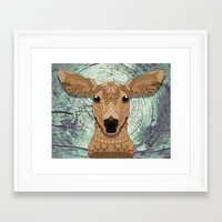 bambi Framed Art Prints featuring Bambi by ArtLovePassion