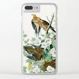 Carolina Turtle Dove, Birds of America by John James Audubon Clear iPhone Case