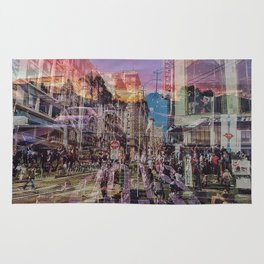 San Francisco city illusion Rug