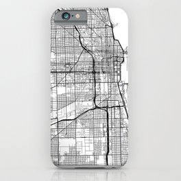 Chicago Map White iPhone Case
