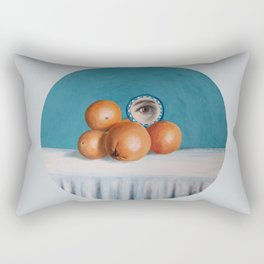the orange girl Rectangular Pillow