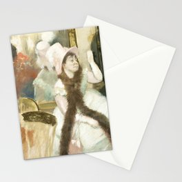 Dancer Onstage (ca 1877) painting in high resolution by Edgar Degas Stationery Cards