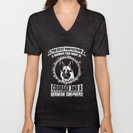 German Shepherd Best Protection A Woman Can Have Unisex V-Neck