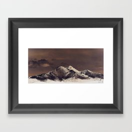 Rustic Mountain Framed Art Print