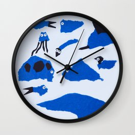 Whimsical Critters Wall Clock