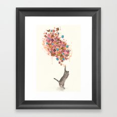 catching butterflies Framed Art Print