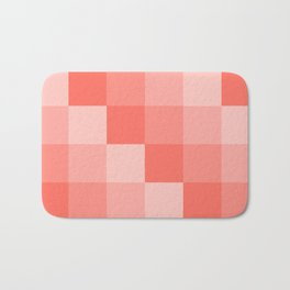 Four Shades of Living Coral Square Bath Mat
