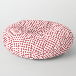 Poppy Red Polka Dots Floor Pillow