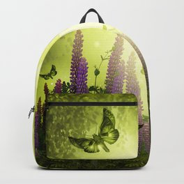 """Forest, flowers and butterflies"" Backpack"