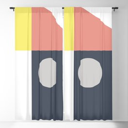 Geometrical shapes Blackout Curtain