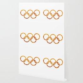 Flaming Olympic Rings Wallpaper