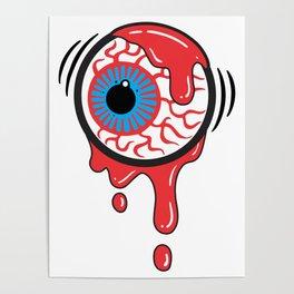 Bloody Eyeball Poster