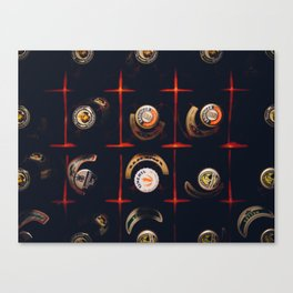 Cool Carate with bottle top Canvas Print