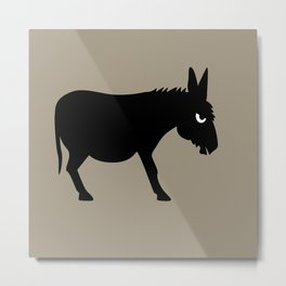Angry Animals: Bad Ass Donkey Metal Print