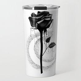 Black rose drips Travel Mug