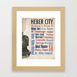 Travel - Heber City Framed Art Print