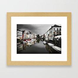 River in Brugge, Belguim Framed Art Print