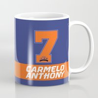 nba Mugs featuring NBA Stars: Carmelo Anthony by Akyanyme