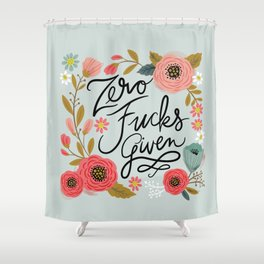 Pretty Swe*ry: Zero Fs given Shower Curtain