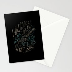 WINTER - Steinbeck Quote Stationery Cards