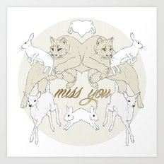 Miss You (Kitsch Symmetry series)  Art Print
