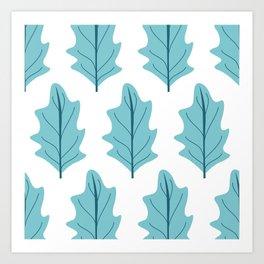 Salad Leaves Art Print