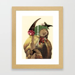 don't expect it to tango; it has a broken back  Framed Art Print