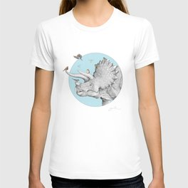Triceratops and Birdies T-shirt