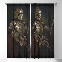 The Woman in the Armour Blackout Curtain