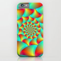 Spiral Spheres in Red Yellow and Turquoise  iPhone 6 Slim Case