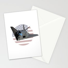 American Stealth Attack Aircraft F-117 Stationery Cards