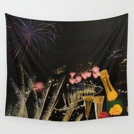 Fogo de artificio fim de ano na Madeira! Wall Tapestry