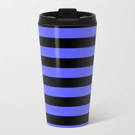 Stripes (Black & Blue Pattern) Travel Mug