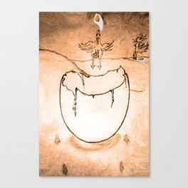 Flying egg Canvas Print