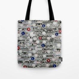 Do The Hokey Pokey (P/D3 Glitch Collage Studies) Tote Bag